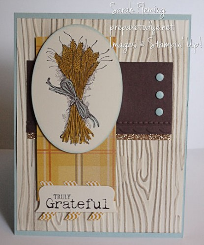 Truly Grateful handmade Thanksgiving Card