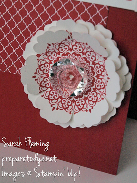 Stampin' Up! - stampin up - Blossom Punch - 40th anniversary card - Happy Day - Sarah Fleming - Prepare to Dye