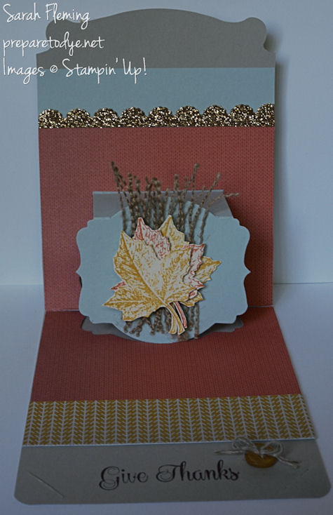 Fall Pop-up card - popup cards - Stampin' Up! - stampin up - Best of Autumn - Sarah Fleming - Prepare to Dye