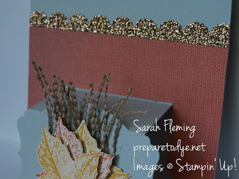 fall pop-up card - fall cards - popup cards - stampin up - stampin' up! - Best of Autumn - Sarah Fleming - Prepare to Dye