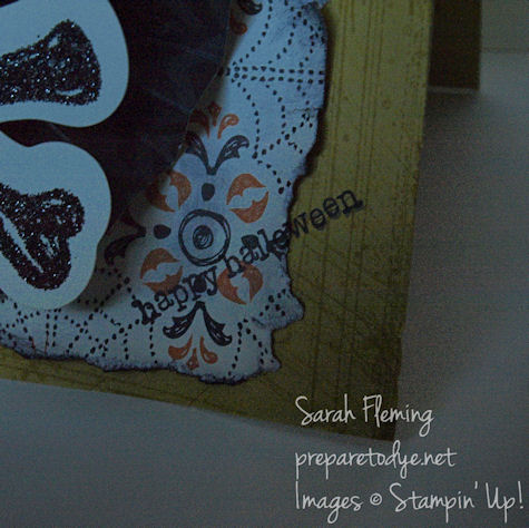 handmade halloween card - stampin up - sarah fleming - prepare to dye