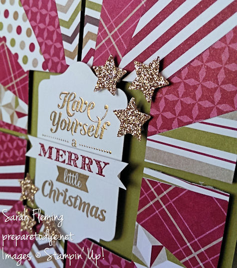 Stampin' Up! - stampin up - handmade Christmas cards - handmade cards - Merry Little Christmas - sunburst technique - Sarah Fleming - Prepare to Dye
