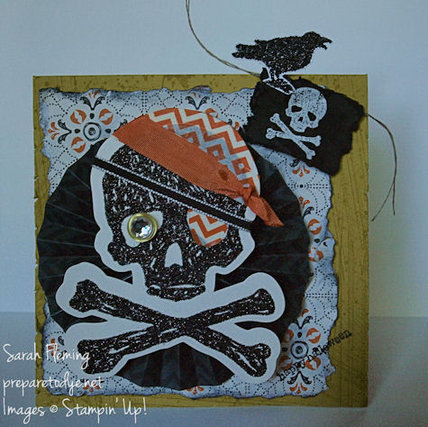Handmade Halloween card - Stampin' Up! - One-Eyed Willie - Build-A-Banner Simply Created - Halloween Accessory Kit - Witches' Brew washi tape - Toil and Trouble - Teeny Tiny Wishes - Goonies