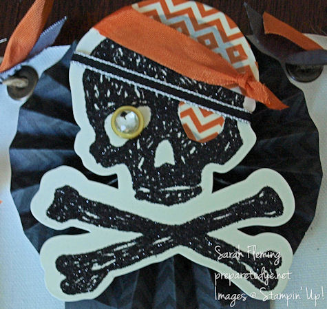 Halloween banner skull and crossbones pirate One-Eyed Willie Goonies Stampin' Up!