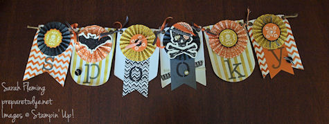 Stampin' Up! Halloween banner - spooky banner - Toil & Trouble - Witches' Brew - Sarah Fleming - Prepare to Dye