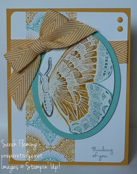 Handmade cards - Stampin' Up! - stampin up - Swallowtail - Eastern Elegance - thinking of you card