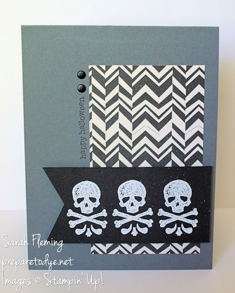 Stampin' Up! Toil & Trouble - stampin up - Halloween cards - handmade Halloween cards - handmade cards - Sarah Fleming - Prepare to Dye