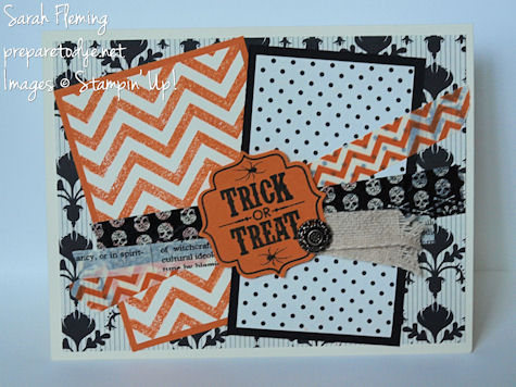 Handmade Halloween cards - Halloween cards - Stampin' Up! - stampin up - Tags 4 You - Halloween washi tape
