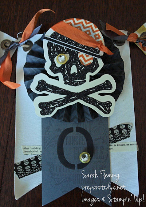 Halloween banner - Stampin' Up! - Sarah Fleming - Prepare to Dye
