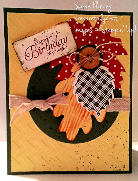 Stampin' Up! handmade birthday cards - MO314JO - Wonderfall - autumn birthday card - Sarah Fleming - Prepare to Dye