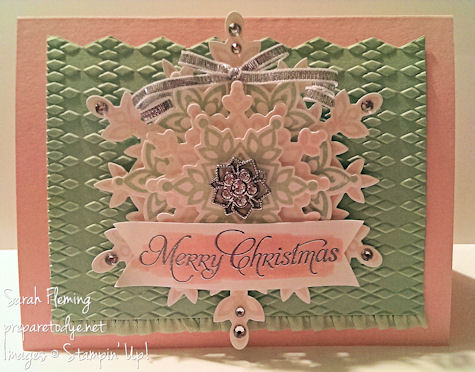 Subtle Christmas card - Stampin' Up! Festive Flurry and More Merry Messages - handmade cards - Sarah Fleming - Prepare to Dye