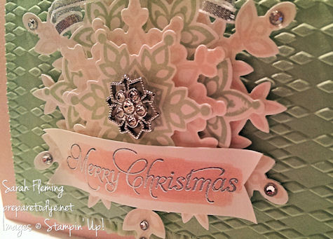 Stampin Up! Festive Flurry and More Merry Messages - handmade Christmas cards - Sarah Fleming - Prepare to Dye