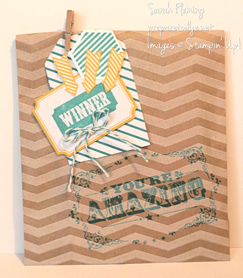 Stampin' Up! Tag a Bag Bundle - small gift packaging - You're Amazing - Six Sided Sampler - hexagons - Hello Lovely