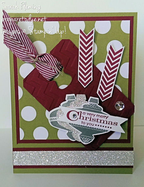 Very Merry Sparkly Christmas - Stampin' Up! Christmas Collectibles and More Merry Messages - Sarah Fleming - Prepare to Dye