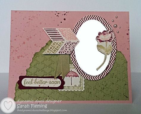 Feel Better Soon - Dynamic Duos #80 - DD#80 - Stampin' Up! Express Yourself and Oh Hello - Sarah Fleming - Prepare to Dye