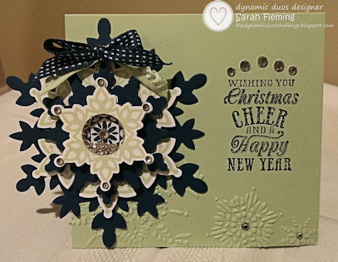 Dynamic Duos #81 - DD#81 - Stampin' Up! Festive Flurry shaker card