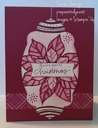 November Stamp of the Month Club - Stampin' Up! Joyful Christmas - Sarah Fleming - Prepare to Dye - subscribe by 11/20