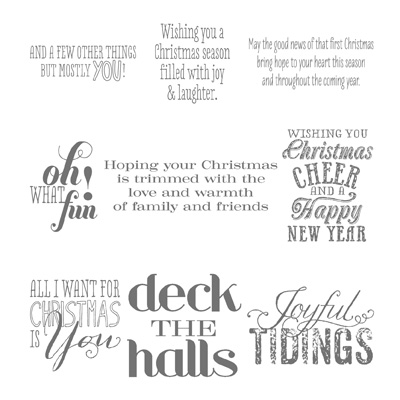 Stampin' Up! Christmas Messages