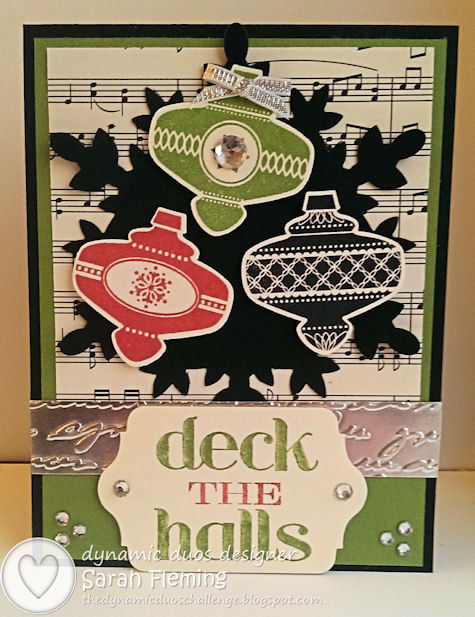 Stampin' Up! - Dynamic Duos #82 - DD#82 - Christmas Collectibles and Christmas Medley with Festive Flurry framelits - Sarah Fleming - Prepare to Dye