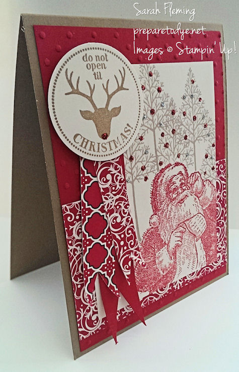 Fusion #1 - Stampin' Up! Very Merry Tags, Santa's List, and Warmth & Wonder - Sarah Fleming - Prepare to Dye