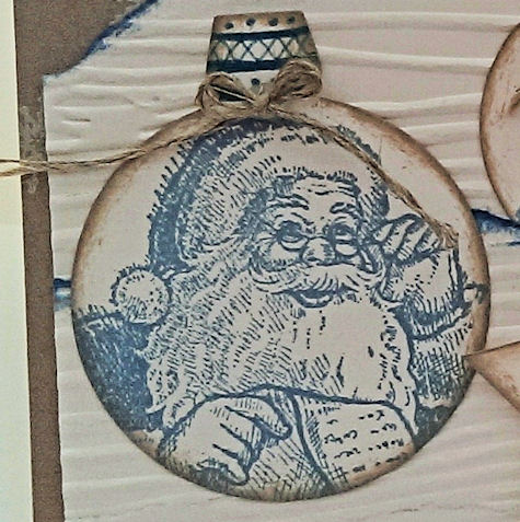 DD#83 Santa Ornament - Stampin' Up! Santa's List - Sarah Fleming - Prepare to Dye