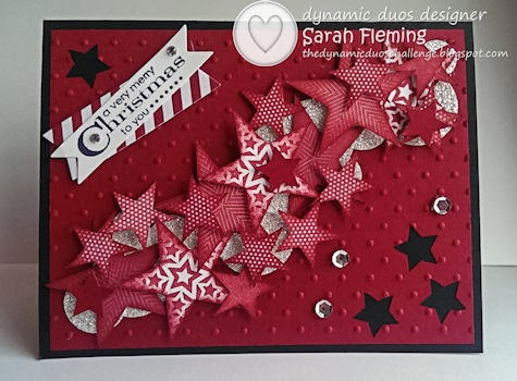 Dynamic Duos #84 - DD#84 - Stampin' Up! Simply Stars and More Merry Messages - Sarah Fleming - Prepare to Dye