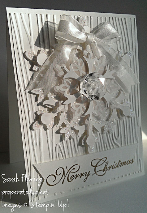 White on White Festive Flurry and Greetings of the Season - Stampin' Up! - PP176 - Sarah Fleming - Prepare to Dye