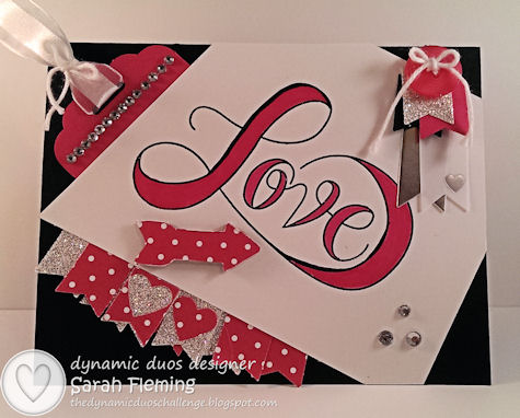 Black Tie Valentine - Dynamic Duos #87 - DD#87 - Stampin' Up! Countless Sayings - Sarah Fleming - Prepare to Dye