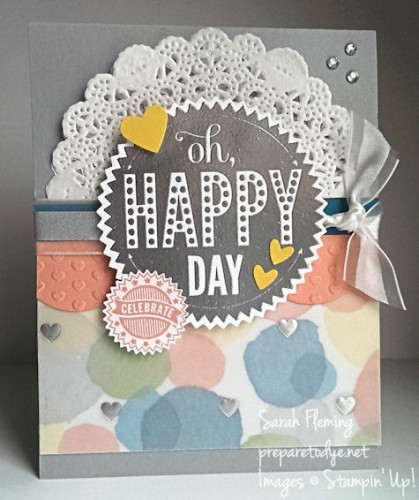 January online Stamp-of-the-Month Club - Stampin' Up! Starburst Sayings - Sarah Fleming - Prepare to Dye