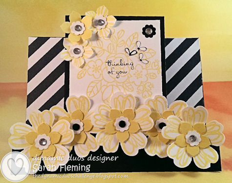 Black Tie Flower Shop - Dynamic Duos #90 DD#90 - Stampin' Up! Flower Shop, So Very Grateful, You're Lovely, Sweetly Framed - Sarah Fleming - Prepare to Dye