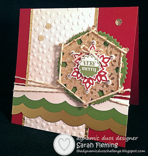 Very Merry & Fresh - Festive Flurry & Very Merry Tags for DD#96 & FMS129 - Sarah Fleming - Prepare to Dye