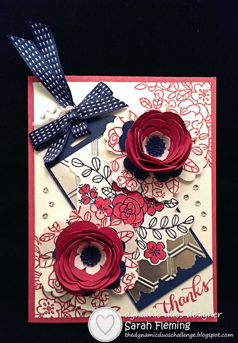 Stampin' Up! So Very Grateful, Another Thank You, Spiral Flower Bigz Die - Dynamic Duos #92 DD#92 - Sarah Fleming - Prepare to Dye