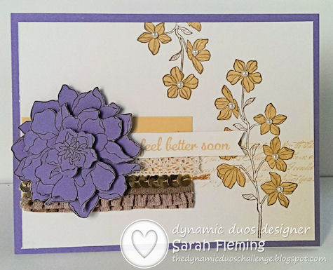 Stampin' Up! Peaceful Petals and Express Yourself - Dynamic Duos #98 - Sarah Fleming - Prepare to Dye - One Design, Two Styles