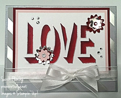Stampin' Up! Countless Sayings, Boho Blossoms punch - handmade wedding cards - handmade valentines day cards - Sarah Fleming - Prepare to Dye