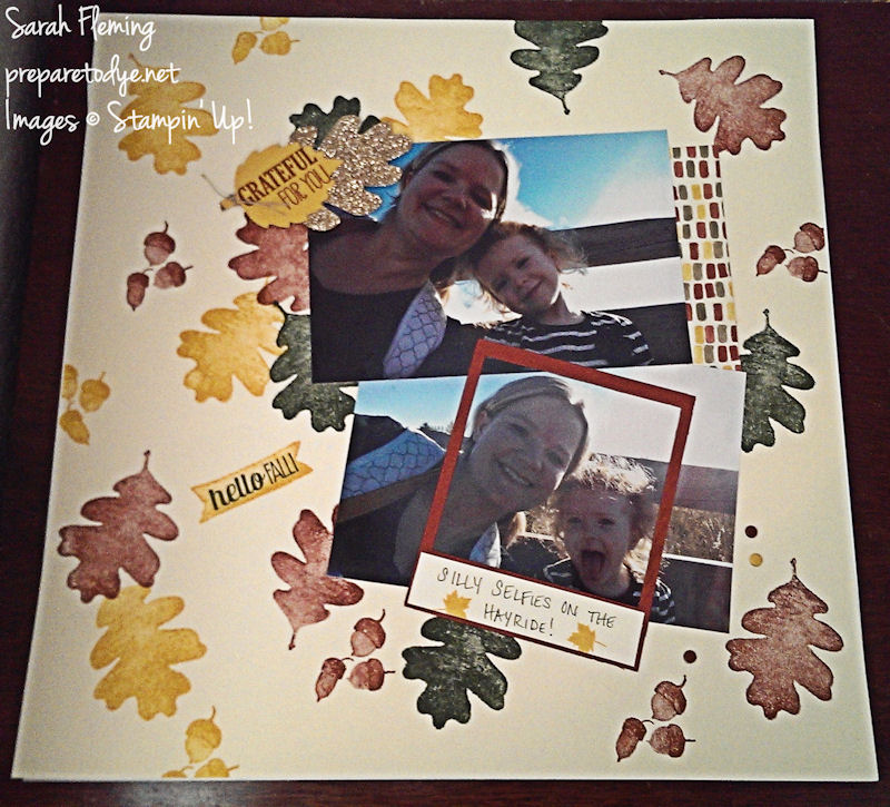 Stampin' Up! scrapbooking - For All Things, Color Me Autumn, baby book, fall - Sarah Fleming - Prepare to Dye