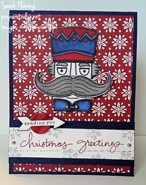 Stampin' Up! Santa Stache, Endless Wishes, Blendabilities - holiday catalog sneak peek - Sarah Fleming - Prepare to Dye