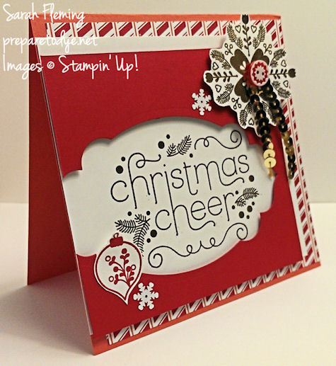 Stampin' Up! Cheerful Christmas stamps & Nordic Noel DSP - 2014 holiday catalog sneak peeks - Sarah Fleming - Prepare to Dye