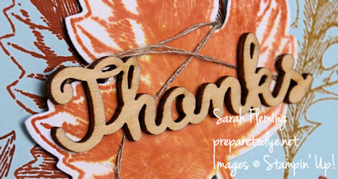 Stampin' Up! Vintage Leaves simple handmade card - Sarah Fleming - Prepare to Dye