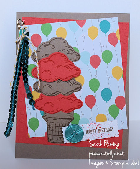 Stampin' Up! Sprinkles of Life stamps & Cherry on Top DSP - Sarah Fleming - Prepare to Dye