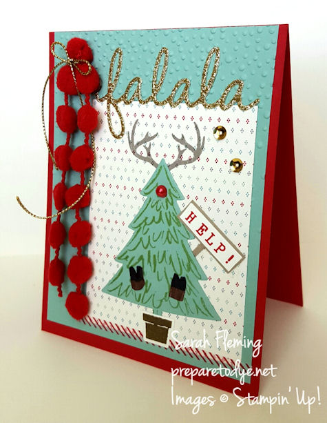 Stampin' Up! - Fa la la, Rudolph - Wonderland antlers with Peaceful Pines - Project Life Hello December - Sarah Fleming - Prepare to Dye