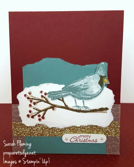 As You Like It - 1 design, 3 cards - Stampin' Up! Joyful Season & Petite Pairs - Sarah Fleming - Prepare to Dye