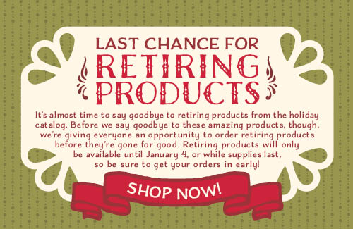 Stampin' Up! holiday catalog retiring products list