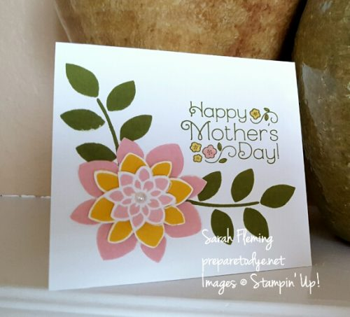 CAS Mother's Day card - April 2016 Paper Pumpkin and Crazy About You stamps - Sarah Fleming - Prepare to Dye