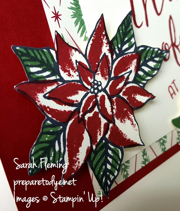 Stampin' Up! Reason For the Season poinsettia