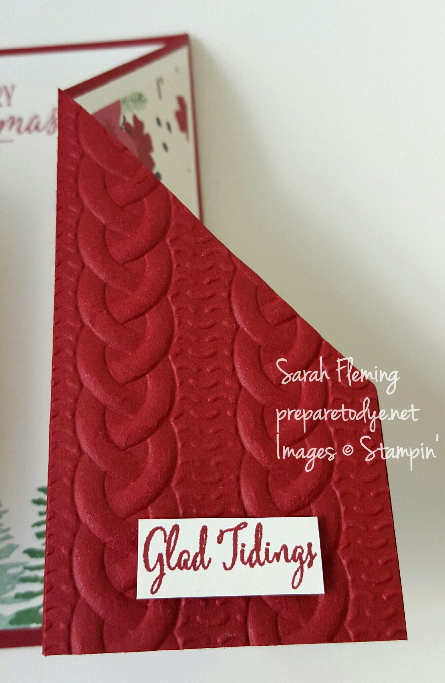 Stampin' Up! Cable Knit embossing folder - Sarah Fleming - Prepare to Dye