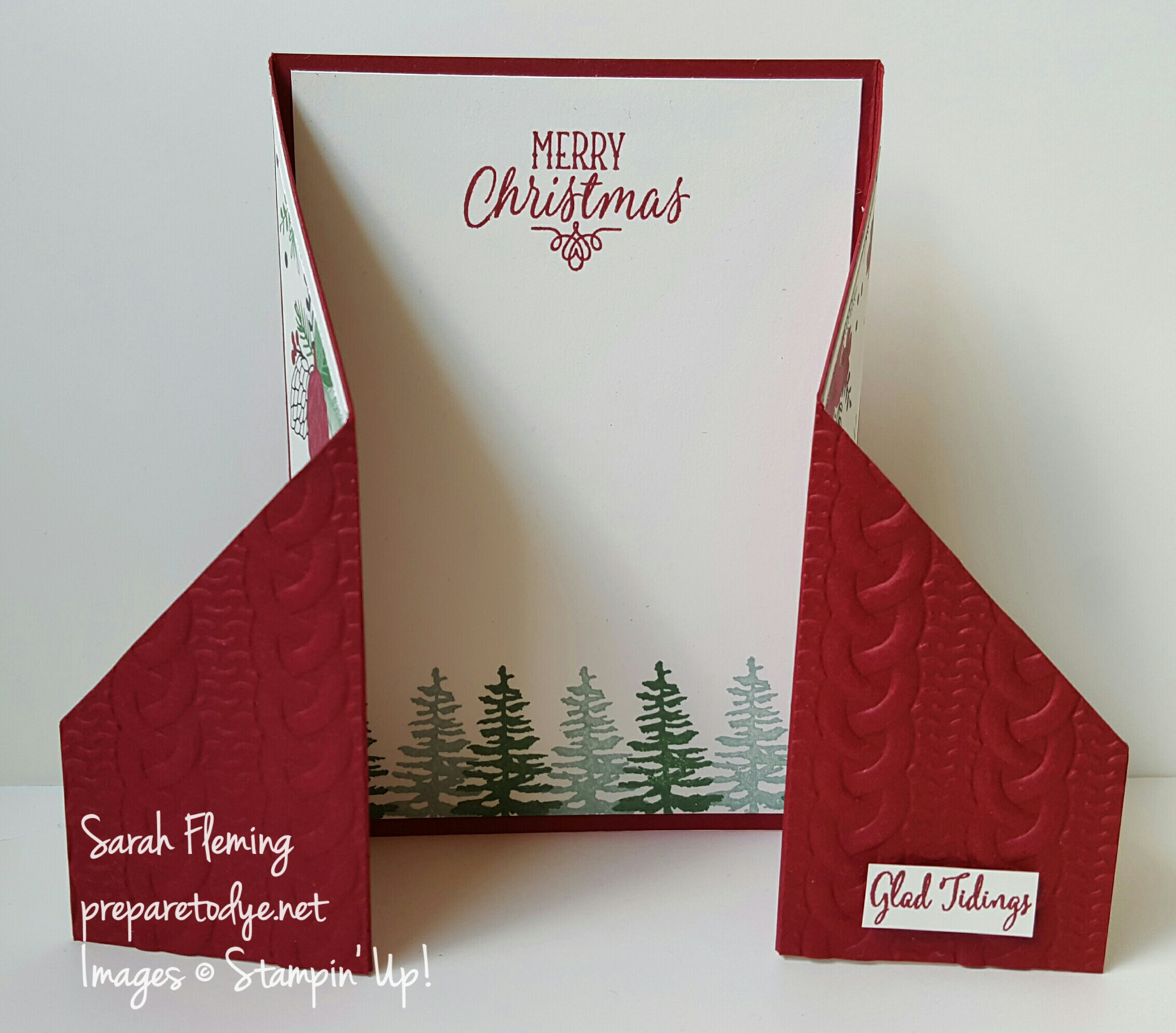 Double gatefold card using Stampin' Up!'s new Festive Season bundle - Sarah Fleming - Prepare to Dye