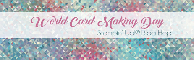World cardmaking day blog hop header