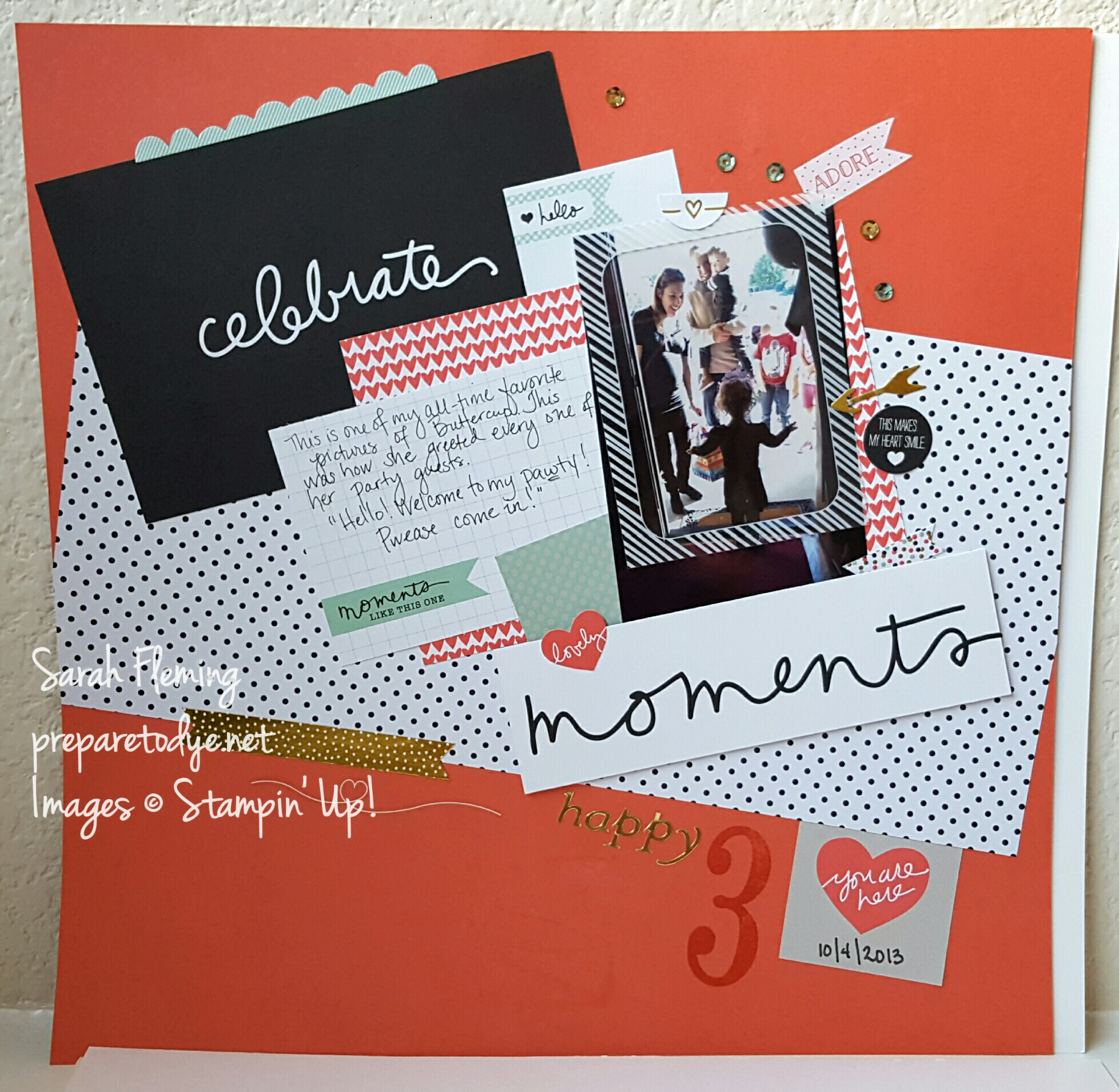 Stampin' Up! scrapbooking with Project Life by Stampin' Up! - PLxSU Moments Like These - Sarah Fleming - Prepare to Dye