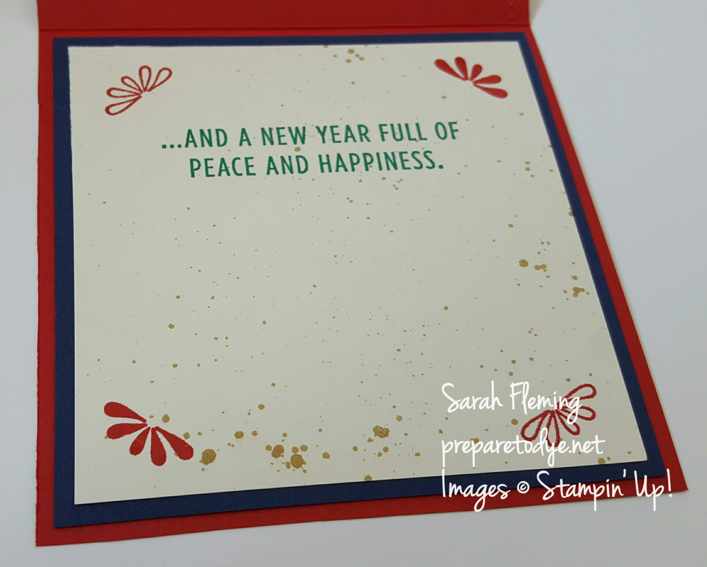 Stampin' Up! Wonderful Year - International Project Highlights October 2016 - Sarah Fleming - Prepare to Dye Papercrafts