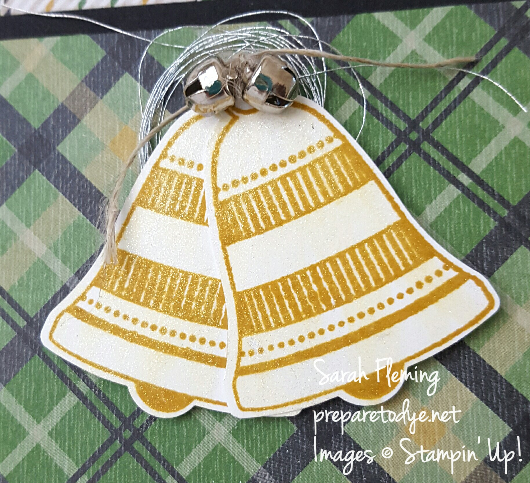 Stampin' Up! Seasonal Bells, Merriest Wishes, and Warmth & Cheer DSP for Merry Monday #218 - Sarah Fleming - Prepare to Dye Papercrafts